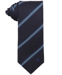Diagonal Stripe Silk Earl Tie by Burberry London in The Good Wife