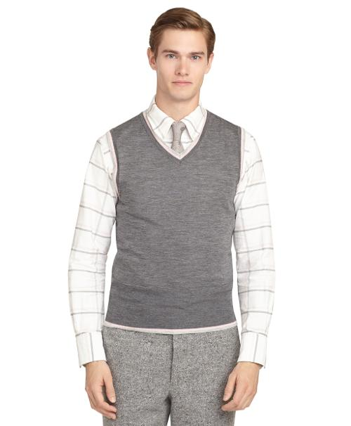 Tipped Vest by Brooks Brothers in Kingsman: The Secret Service