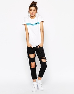 Boyfriend T-Shirt With Internet Famous Slogan by Adolescent Clothing in Scream Queens