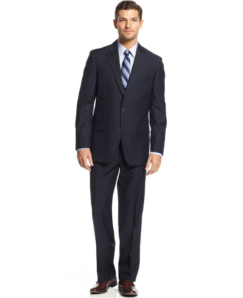 Navy Solid Suit by Alfani in The Secret Life of Walter Mitty