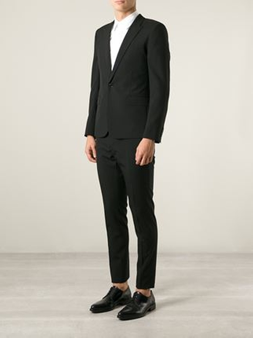 Slim Fit Two-Piece Suit by Saint Laurent in Demolition