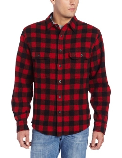 Wool-Blend Buffalo-Plaid Shirt by Woolrich in Dope