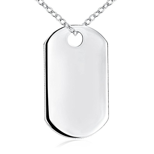 Military Army Dog Tag Pendant Necklace by Godyce in Sisters