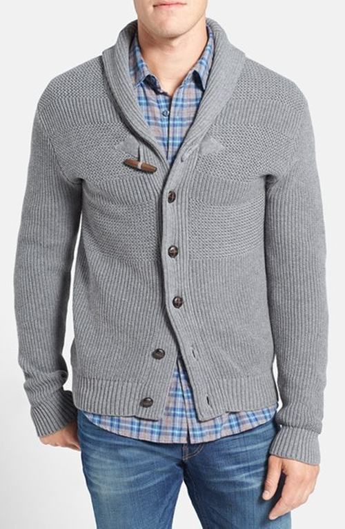 Textured Knit Shawl Cardigan by 1901 in The Boy Next Door