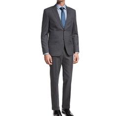 Tonal Stripe Two-Piece Suit by Boss in Billions