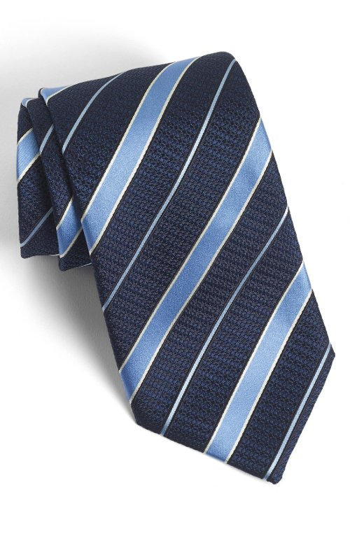 Woven Silk Tie by Ermenegildo Zegna in Crazy, Stupid, Love.