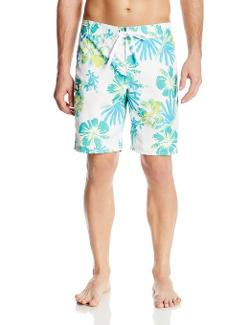 Men's Hibiscus-Print Boardshort by Gotcha in Couple's Retreat