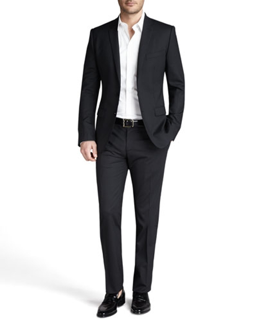 Martini Stretch-Wool Suit by Dolce & Gabbana in Furious 7