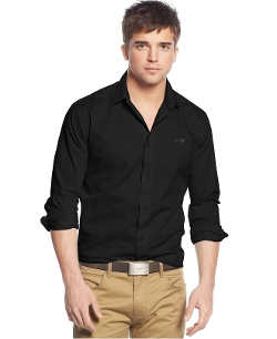 Solid Woven Shirt by Armani Jeans in Me and Earl and the Dying Girl