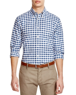 Gingham Button Down Shirt by Brooks Brothers in Chelsea