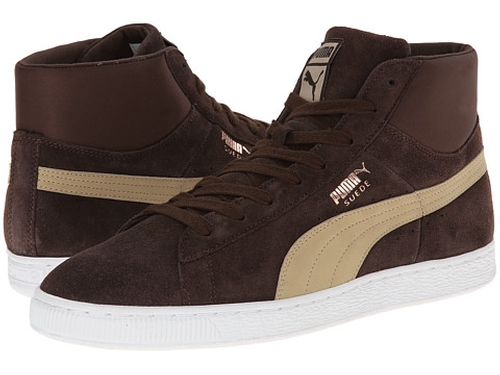 Suede Mid Classic Nat Calm 2 Sneakers by Puma in Clueless