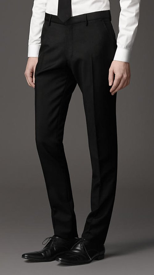 Slim Fit Wool Mohair Trousers by Burberry in The Man from U.N.C.L.E.