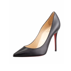Point-Toe Red Sole Pumps by Christian Louboutin in Conviction
