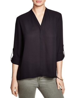 Taylor Roll Sleeve Blouse by T Tahari in Chelsea