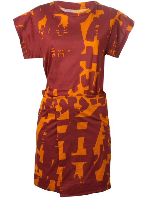 Abstract Print Dress by Isabel Marant in Elementary - Season 4 Episode 1