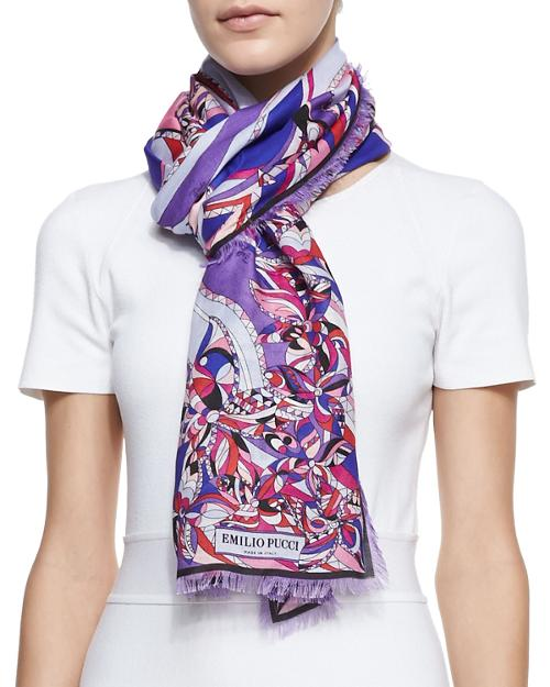 Astana Printed Fringe Scarf by Emilio Pucci	 in New Year's Eve
