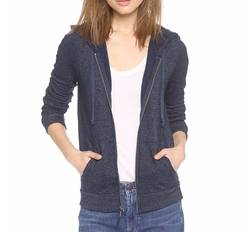 Soft Melange Zip Hoodie by Splendid in Guilt
