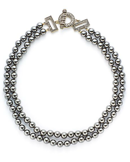 Two Fab Bead & Crystal Toggle Necklace by Heidi Daus in Fifty Shades of Grey