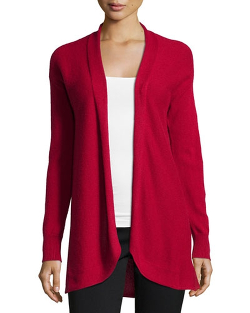 Cashmere Open-Front Cardigan Sweater by Neiman Marcus in The Good Wife - Season 7 Episode 4