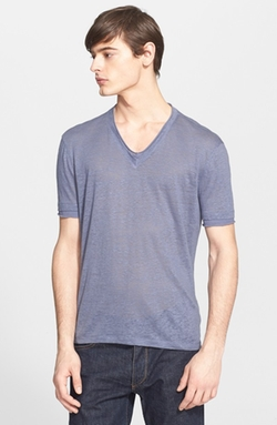 Linen V-Neck T-Shirt by John Varvatos Collection in American Horror Story