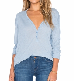 Heathered Long Sleeve Top by Splendid in Fuller House