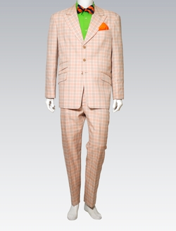 Clifford Orange with Green Plaid Suit by Clavon's Wear in Ballers