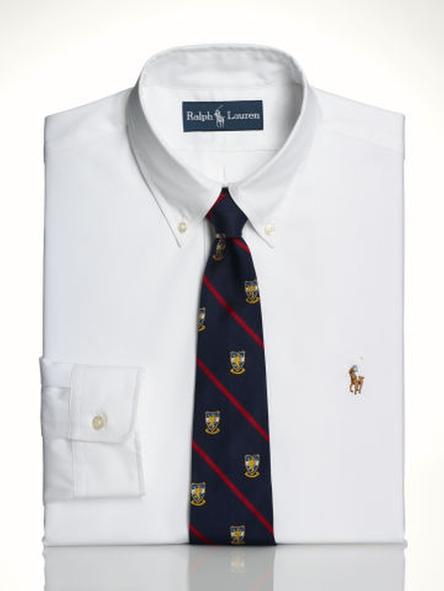 Slim-Fit Oxford Dress Shirt by Polo Ralph Lauren in The Wolf of Wall Street