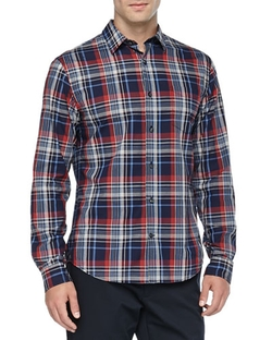 Plaid Button-Down Shirt by Vince in Master of None