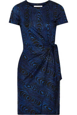 Zoe Printed Silk-Jersey Dress by Diane Von Furstenberg in Master of None