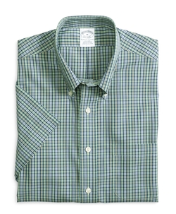 Check Short-Sleeve Sport Shirt by Brooks Brothers in Modern Family