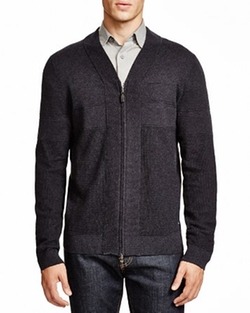 Unis V-Neck Zip Cardigan by Boss Hugo Boss in She's Funny That Way