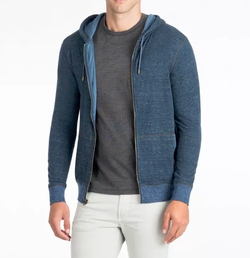 Heather Zip-Up Hoodie Jacket by Faherty in Animal Kingdom