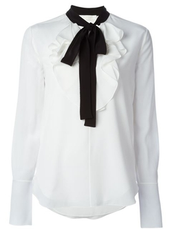 Contrast Pussy Bow Blouse by Chloé in The Good Wife