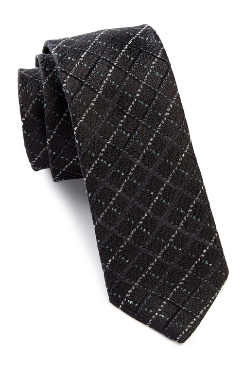 Noil Silk Diamond Tie by John Varvatos  in Supernatural - Series Looks