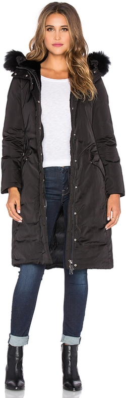 Fur Border Down Coat by ADD in Power
