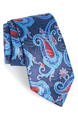 Paisley Print Silk Tie by Ermenegildo Zegna in The Good Wife