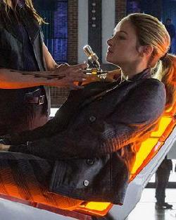 Custom Made Tris Prior Leather Jacket by Carlo Poggioli (Costume Designer) in Divergent