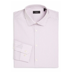 Micro Checked Shirt by Theory in Ballers