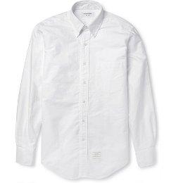 Button-Down Collar Cotton Oxford Shirt by Thom Browne in Begin Again