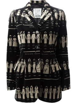 Fashion Timeline  Print Blazer by Moschino Vintage in American Horror Story