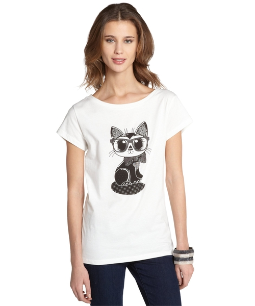 Geeky Cat Graphic Tee by French Connection in American Pie
