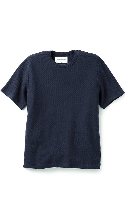 Mid-Sleeve New Crepe T-Shirt by Our Legacy in Crazy, Stupid, Love.