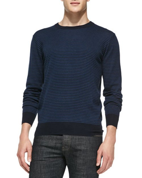 Striped Crewneck Sweater by Neiman Marcus in While We're Young