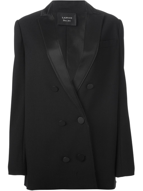 Oversized Tuxedo Blazer Coat by Lanvin in Keeping Up With The Kardashians - Season 11 Episode 1