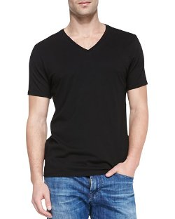 Short-Sleeve V-Neck T-Shirt by AG Adriano Goldschmied	 in If I Stay