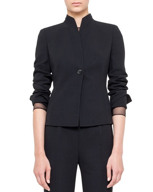 One-Button Jacket with Mandarin Collar by Akris in Scandal - Season 5 Episode 1