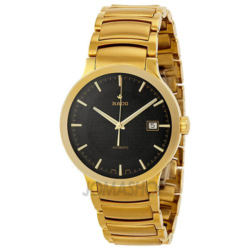 Centrix Automatic Black Dial Yellow Gold-Plated Stainless Steel Mens Watch by Rado in The Purge: Anarchy