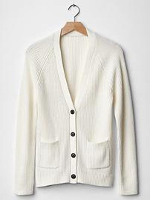 Ribbed V-Neck Cardigan by Gap in The Best of Me