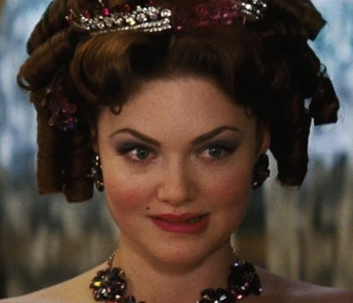 Custom Made Stud Rhinestone Earrings (Anastasia) by Sandy Powell (Costume Designer) in Cinderella