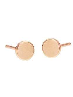 Rose Gold Circle Stud Earrings by Jennifer Meyer in Jurassic World